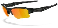 Oakley Flak Jacket - Polished Black - Fire iridium