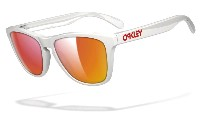 Oakley Frogskins 9013 24-307 Polished White - Ruby Iridium
