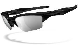 Oakley Half Jacket 2.0 XL 09154-01 Polished Black - Black Iridium