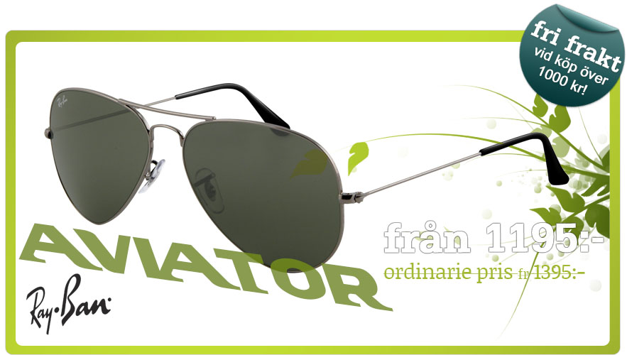 Ray-Ban aviator solglasögon - Lenssavers